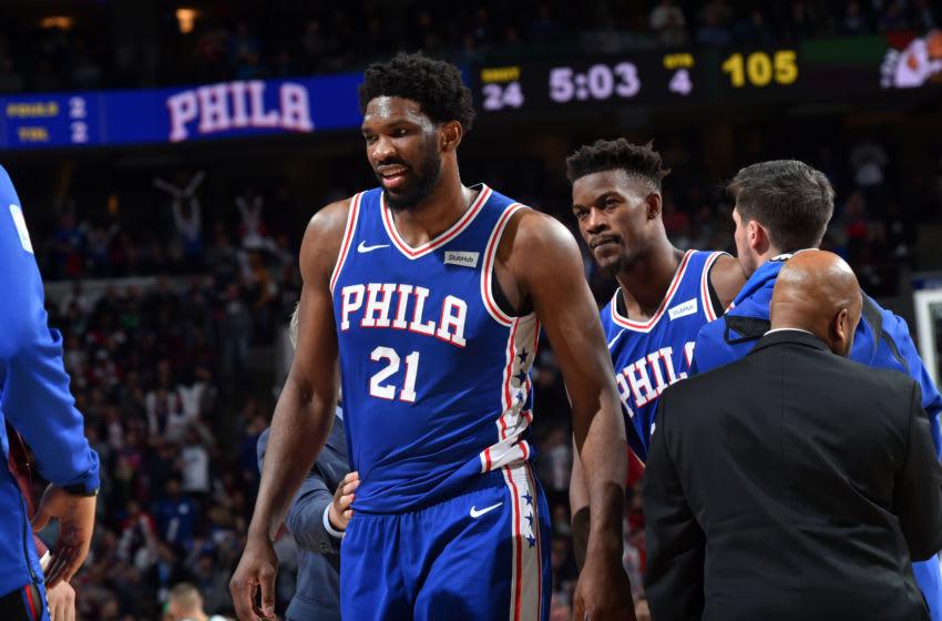 Joel Embiid, Jimmy Butler | Philadelphia 76ers (Photo by Jesse D. Garrabrant/NBAE via Getty Images)
