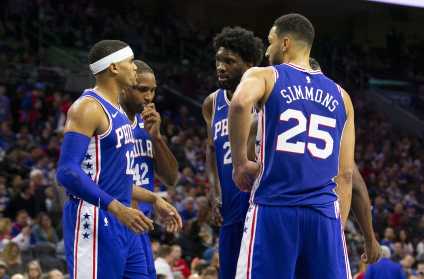 Tobias Harris, Josh Richardson, Joel Embiid, Ben Simmons | Philadelphia 76ers (Photo by Mitchell Leff/Getty Images)