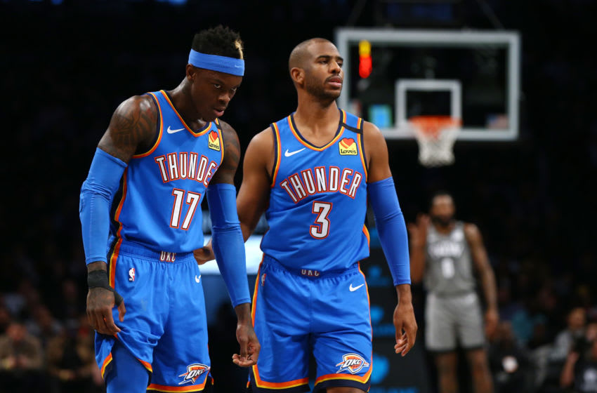 Chris Paul, Dennis Schroder (Photo by Mike Stobe/Getty Images)
