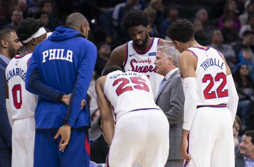 Ben Simmons, Joel Embiid, Matisse Thybulle | Philadelphia 76ers (Photo by Mitchell Leff/Getty Images)