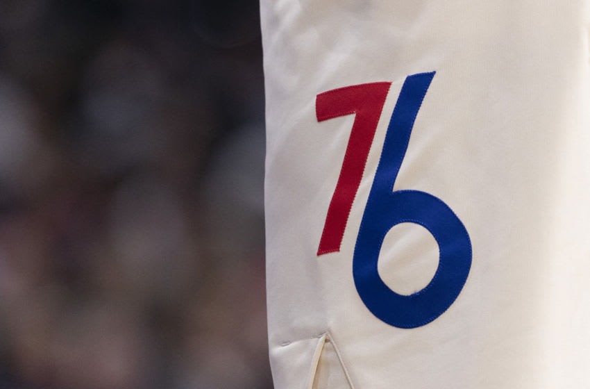 Philadelphia 76ers logo (Photo by Mitchell Leff/Getty Images)