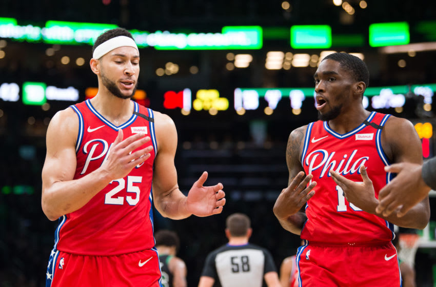 Philadelphia 76ers, Ben Simmons, Shake Milton (Photo by Kathryn Riley/Getty Images)