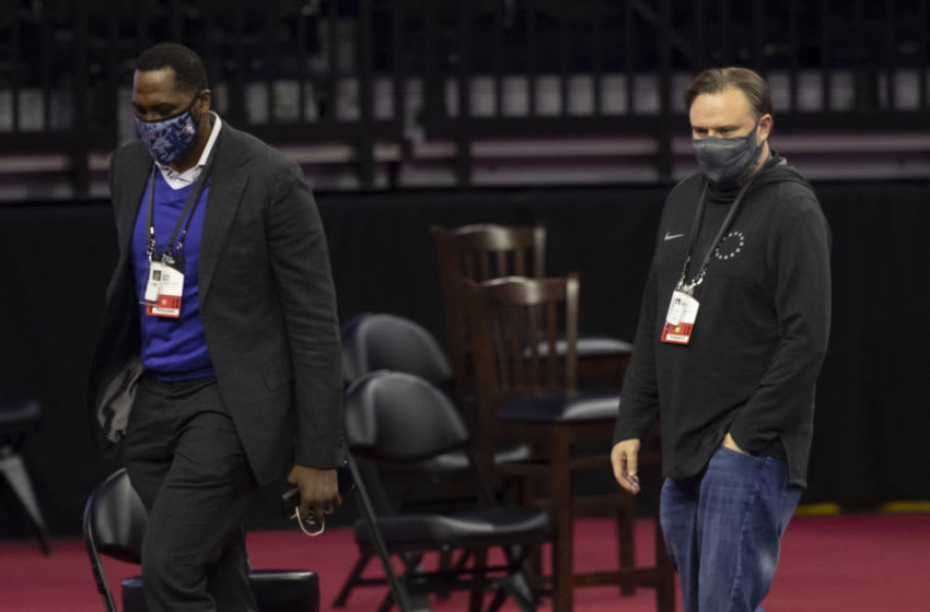 Daryl Morey, Elton Brand | Philadelphia 76ers (Photo by Mitchell Leff/Getty Images)