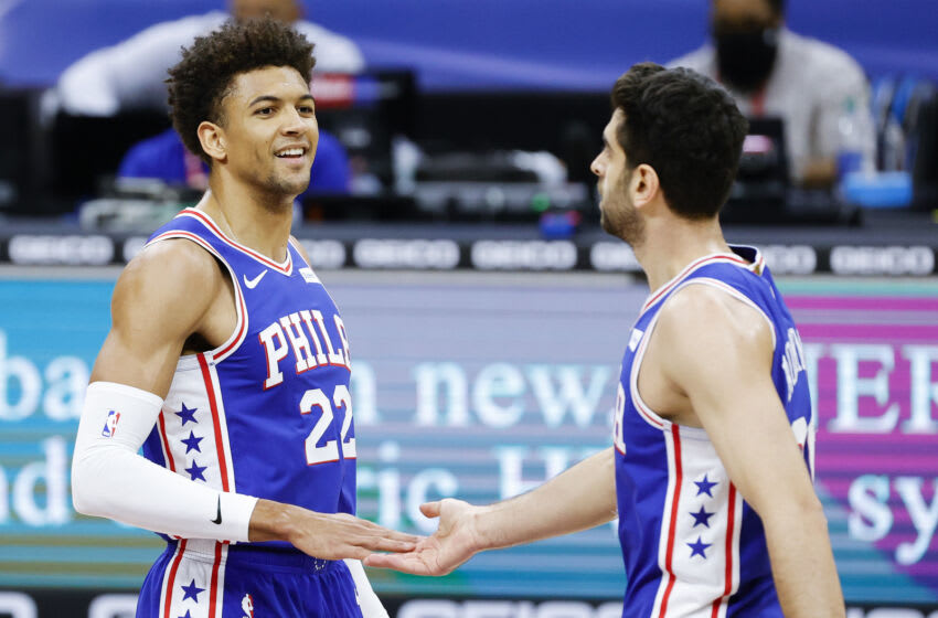 Matisse Thybulle, Furkan Korkmaz, Sixers (Photo by Tim Nwachukwu/Getty Images)