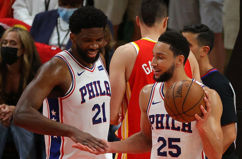 Joel Embiid, Ben Simmons, Sixers (Photo by Kevin C. Cox/Getty Images)