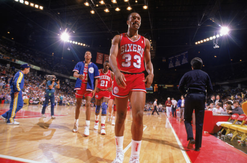 Philadelphia 76ers, Hersey Hawkins (Photo by Mike Powell/Getty Images)