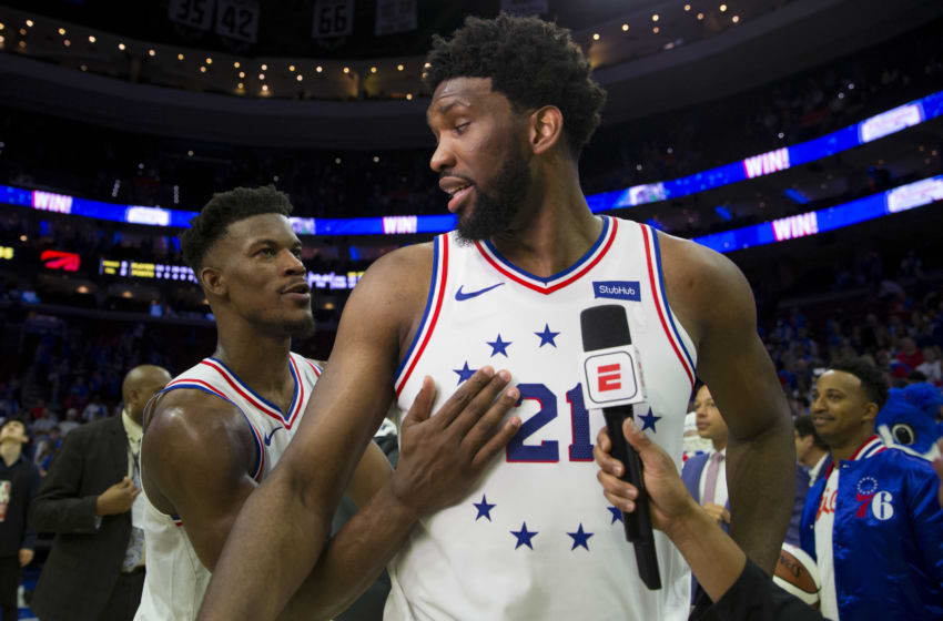 Philadelphia 76ers, Jimmy Butler, Joel Embiid (Photo by Mitchell Leff/Getty Images)