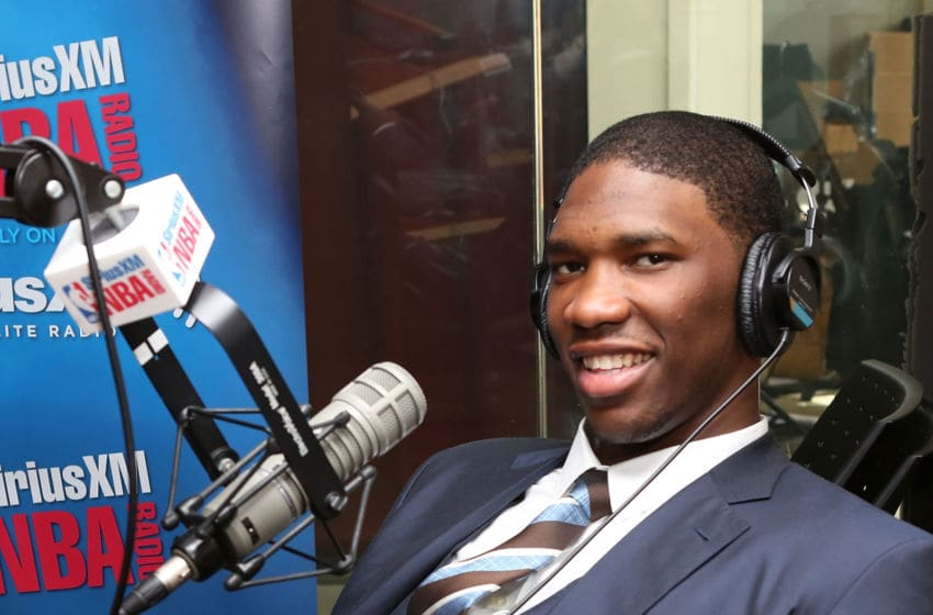 Joel Embiid NBA Draft (Photo by Robin Marchant/Getty Images)