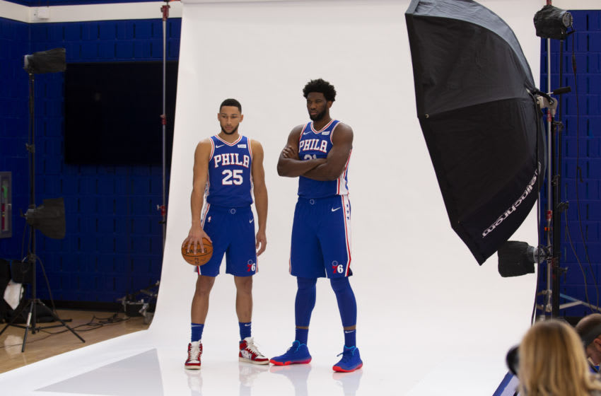 Ben Simmons, Joel Embiid | Sixers (Photo by Mitchell Leff/Getty Images)