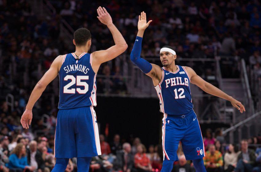 Ben Simmons, Tobias Harris   Philadelphia 76ers Mandatory Credit: Tim Fuller-USA TODAY Sports