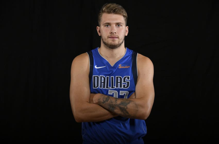 Dallas Mavericks Luka Doncic Copyright 2018 NBAE (Photo by Brian Babineau/NBAE via Getty Images)