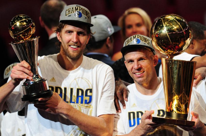 Dallas Mavericks Dirk Nowitzki Jason Kidd (MARK RALSTON/AFP via Getty Images)