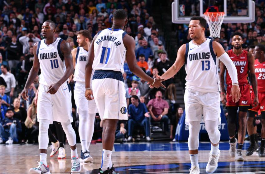 Dallas Mavericks Tim Hardaway Jr. Jalen Brunson Copyright 2019 NBAE (Photo by Glenn James/NBAE via Getty Images)