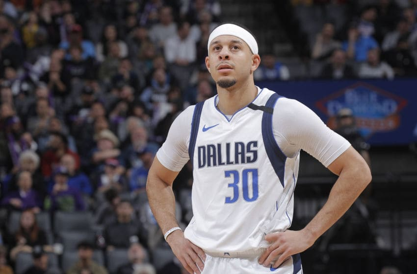 Dallas Mavericks Seth Curry Copyright 2020 NBAE (Photo by Rocky Widner/NBAE via Getty Images)
