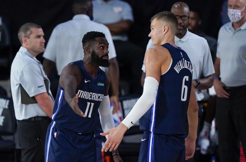 Dallas Mavericks Tim Hardaway Jr. Kristaps Porzingis (Photo by Ashley Landis-Pool/Getty Images)