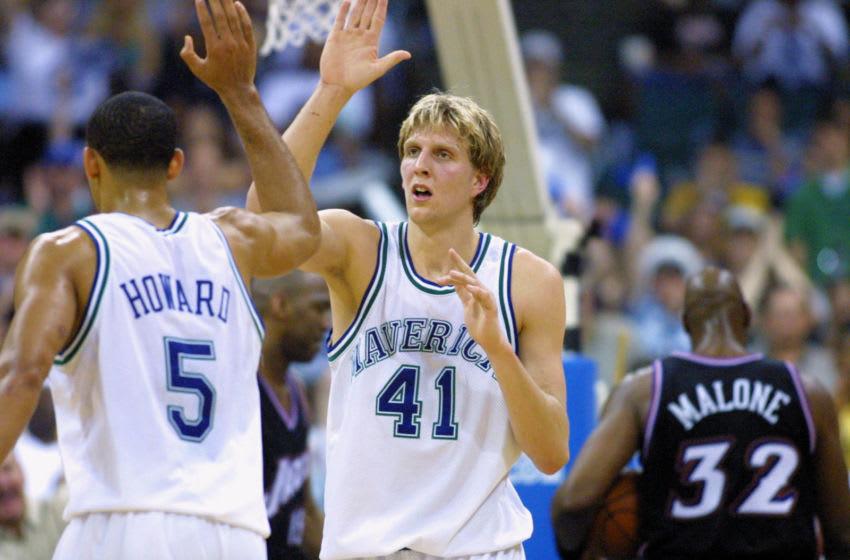 Dallas Mavericks Dirk Nowitzki Mandatory Credit: Ronald Martinez/Allsport