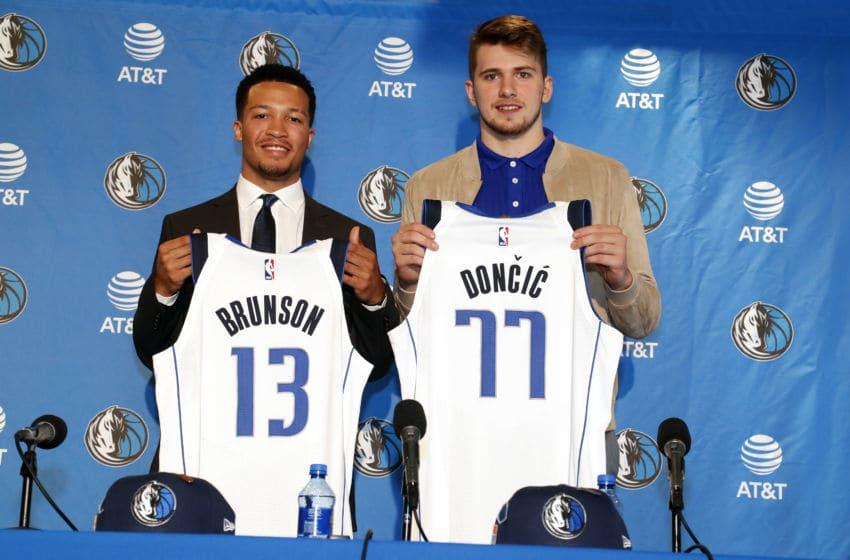 Dallas Mavericks Jalen Brunson Luka Doncic Copyright 2018 NBAE (Photo by Glenn James/NBAE via Getty Images)