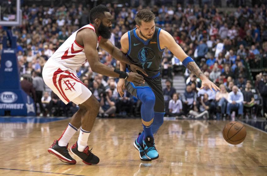 Dallas Mavericks James Harden Luka Doncic Mandatory Credit: Jerome Miron-USA TODAY Sports