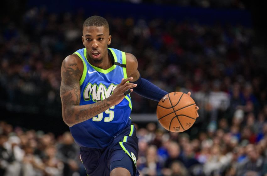 Dallas Mavericks Delon Wright Mandatory Credit: Jerome Miron-USA TODAY Sports