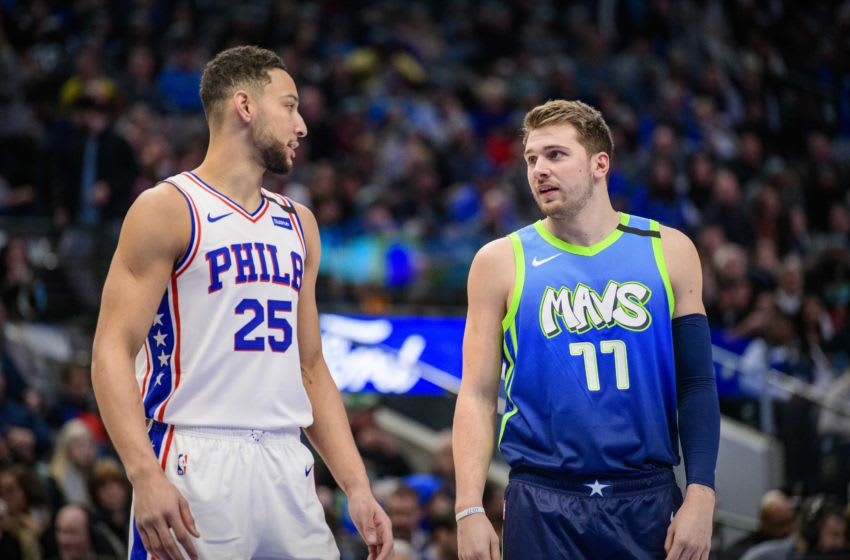 Dallas Mavericks Luka Doncic Ben Simmons Mandatory Credit: Jerome Miron-USA TODAY Sports