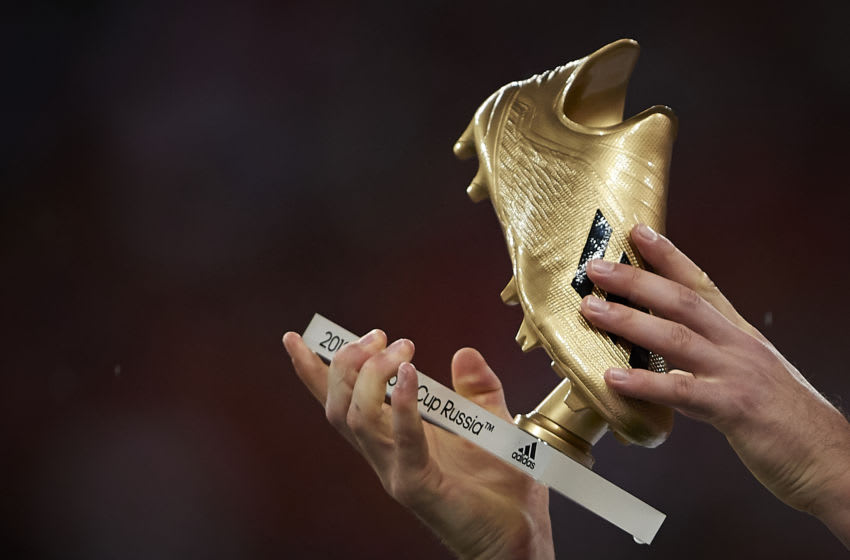 Harry Kane of England Golden Boot award (Photo by Quality Sport Images/Getty Images)