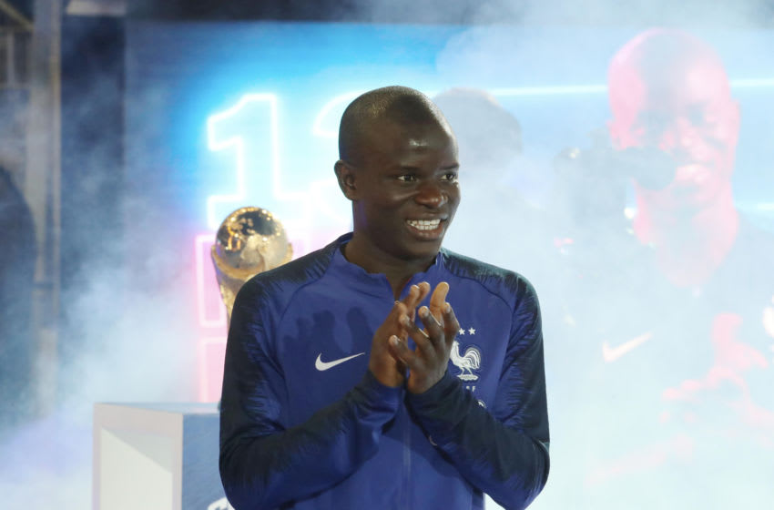 N'Golo Kante of Chelsea (Photo by Xavier Laine/Getty Images)