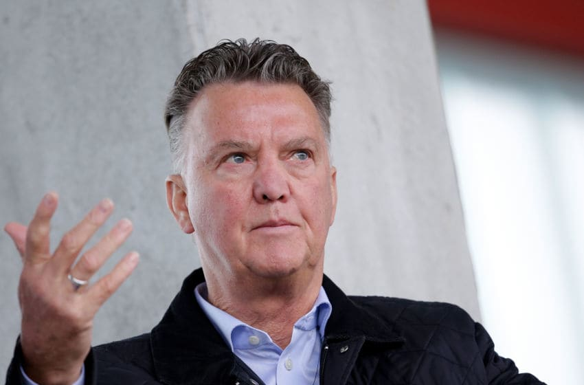 MUNCHEN, GERMANY - OCTOBER 2: Louis van Gaal during the match between Bayern Munchen U19 v Ajax U19 at the FC Bayern Campus on October 2, 2018 in Munchen Germany (Photo by Erwin Spek/Soccrates/Getty Images)