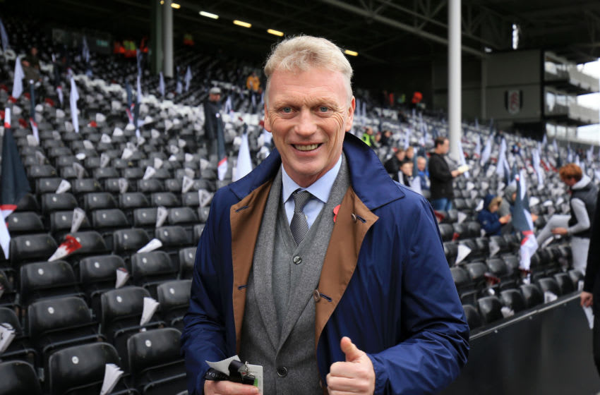 LONDON, ENGLAND - OCTOBER 27: David Moyes poses for a photograph inside the stadium prior to the Premier League match between Fulham FC and AFC Bournemouth at Craven Cottage on October 27, 2018 in London, United Kingdom. (Photo by Marc Atkins/Getty Images)