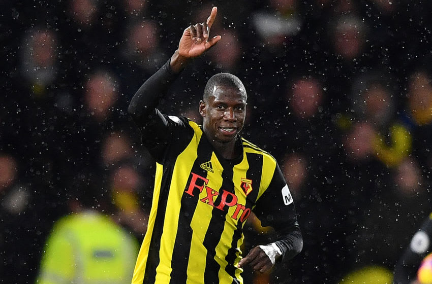 Watford's midfielder Abdoulaye Doucoure (Photo credit should read BEN STANSALL/AFP via Getty Images)