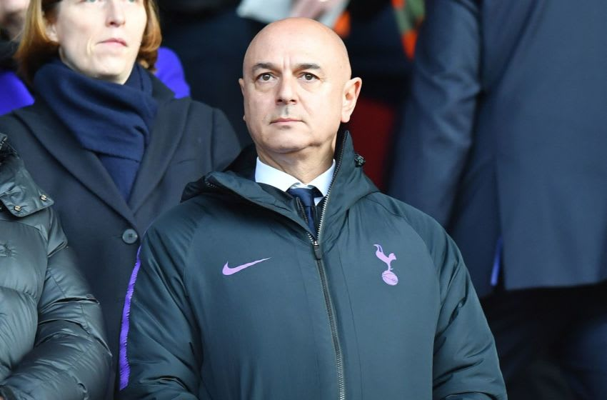 Tottenham Hotspur's English chairman Daniel Levy reacts ahead of the English Premier League football match between Southampton and Tottenham Hotspur at St Mary's Stadium in Southampton, southern England on March 9, 2019. (Photo by OLLY GREENWOOD / AFP) / RESTRICTED TO EDITORIAL USE. No use with unauthorized audio, video, data, fixture lists, club/league logos or 'live' services. Online in-match use limited to 120 images. An additional 40 images may be used in extra time. No video emulation. Social media in-match use limited to 120 images. An additional 40 images may be used in extra time. No use in betting publications, games or single club/league/player publications. / (Photo credit should read OLLY GREENWOOD/AFP via Getty Images)