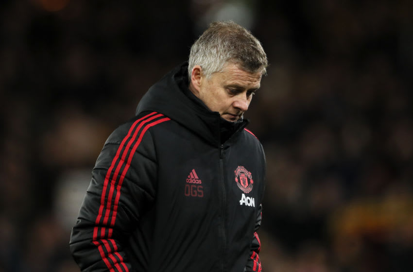 Ole Gunnar Solskjaer head coach/manager of Manchester United (Photo by Matthew Ashton - AMA/Getty Images)
