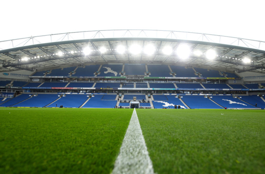 BRIGHTON, ENGLAND - OCTOBER 05: A general view inside the stadium prior to the Premier League match between Brighton & Hove Albion and Tottenham Hotspur at American Express Community Stadium on October 05, 2019 in Brighton, United Kingdom. (Photo by Charlie Crowhurst/Getty Images)