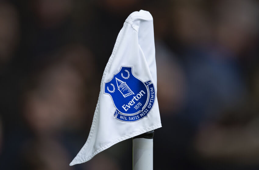 A corner flag of Everton FC (Photo by Visionhaus)