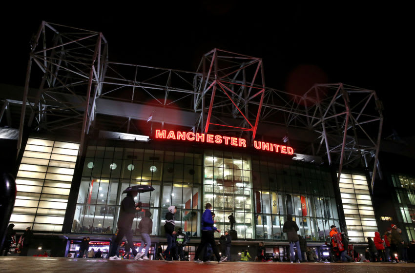 MANCHESTER, ENGLAND - NOVEMBER 07: General view outside the stadium prior to the UEFA Europa League group L match between Manchester United and Partizan at Old Trafford on November 07, 2019 in Manchester, United Kingdom. (Photo by Alex Livesey/Getty Images)