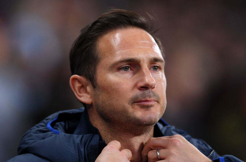 MANCHESTER, ENGLAND - NOVEMBER 23: Frank Lampard, Manager of Chelsea looks on prior to the Premier League match between Manchester City and Chelsea FC at Etihad Stadium on November 23, 2019 in Manchester, United Kingdom. (Photo by Laurence Griffiths/Getty Images)