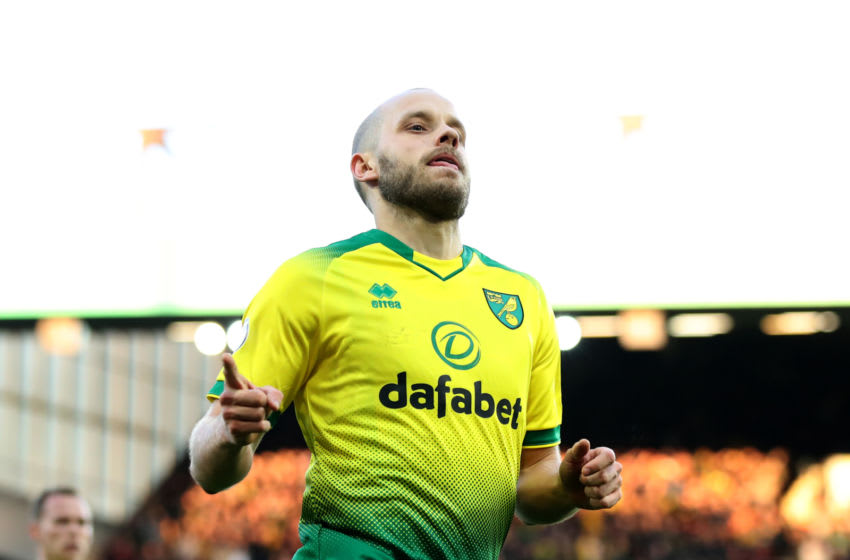 Teemu Pukki of Norwich City (Photo by Marc Atkins/Getty Images)