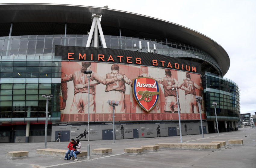 LONDON, ENGLAND - MARCH 14: A view outside Emirates stadium on March 14, 2020 in London, England. (Photo by Shaun Botterill/Getty Images)