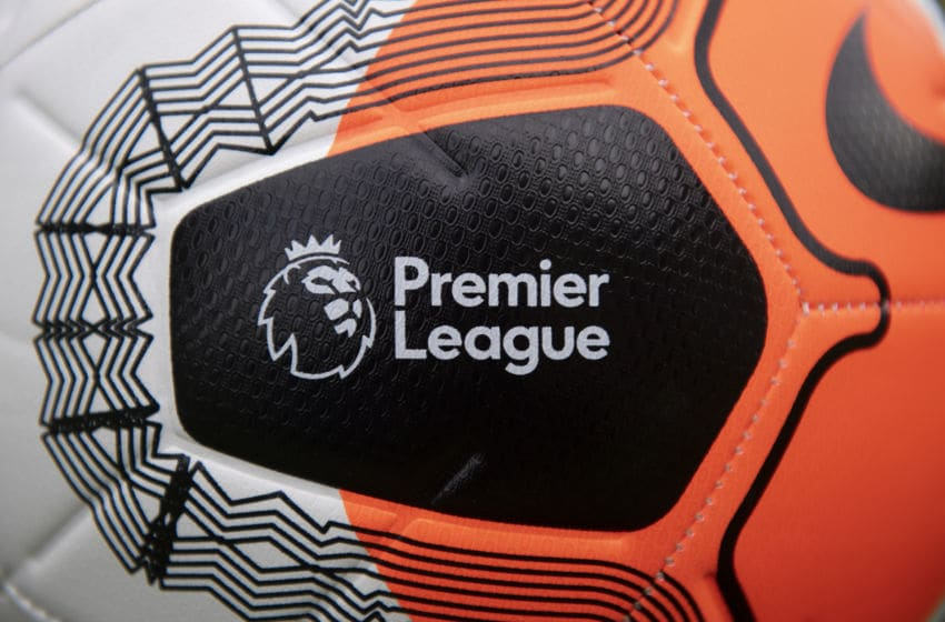 WHICHFORD, ENGLAND - APRIL 17: Nike Premier League Strike Football photographed on April 23, 2020 in Whichford, Warwickshire, United Kingdom. No Premier League matches have been played since March 9th due to the Coronavirus Covid-19 pandemic. (Photo by VISIONHAUS)