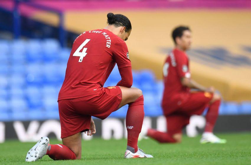 Liverpool's defender Virgil van Dijk (Photo by PETER POWELL/POOL/AFP via Getty Images)