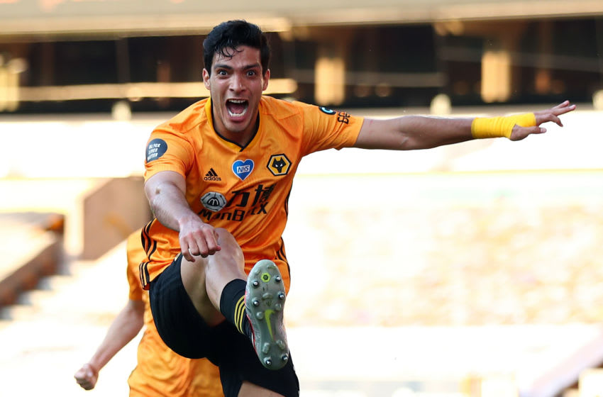 Raul Jimenez of Wolverhampton Wanderers (Photo by Marc Atkins/Getty Images)