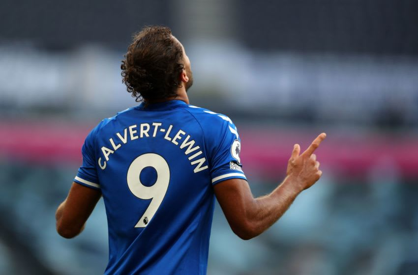 Everton's striker Dominic Calvert-Lewin (Photo by CATHERINE IVILL/POOL/AFP via Getty Images)