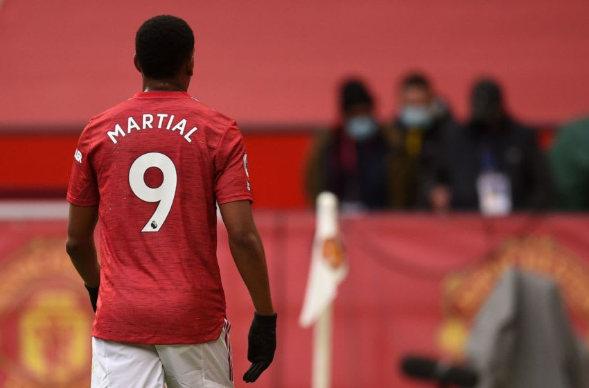 Manchester United's striker Anthony Martial (Photo by OLI SCARFF/AFP via Getty Images)