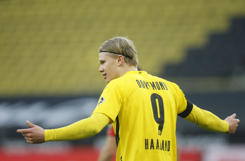 Dortmund's forward Erling Braut Haaland (Photo by LEON KUEGELER/POOL/AFP via Getty Images)