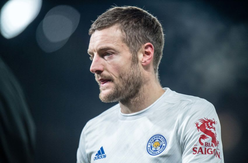 Jamie Vardy of Leicester City (Photo by Sebastian Frej/MB Media/Getty Images)