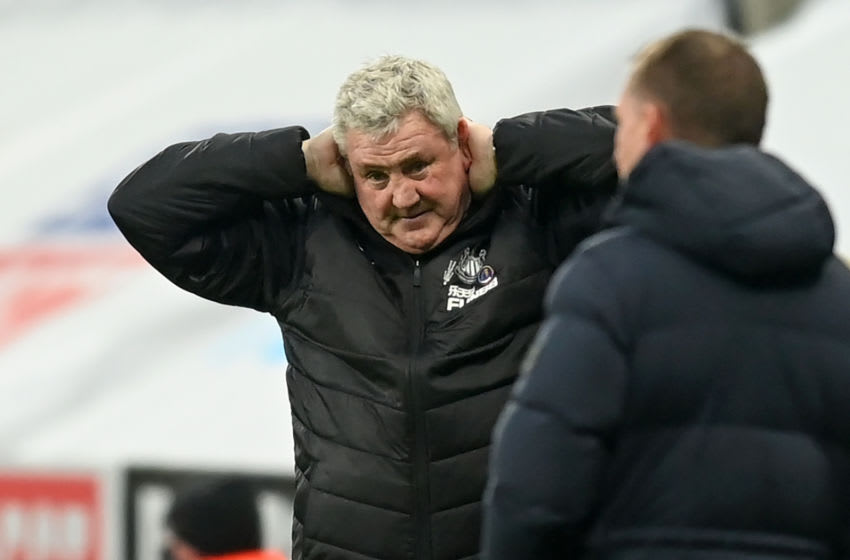 Newcastle United's head coach Steve Bruce (Photo by MICHAEL REGAN/POOL/AFP via Getty Images)