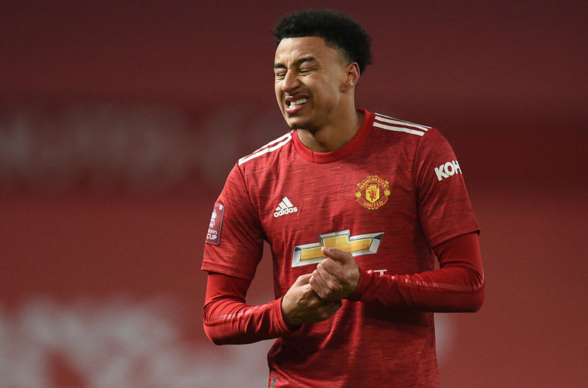 Manchester United's midfielder Jesse Lingard (Photo by OLI SCARFF/POOL/AFP via Getty Images)