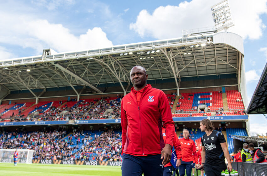 manager Patrick Vieira of Crystal Palace (Photo by Sebastian Frej/MB Media/Getty Images)