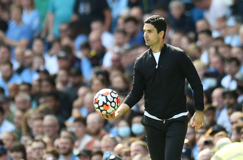 Arsenal's manager Mikel Arteta (Photo by OLI SCARFF/AFP via Getty Images)