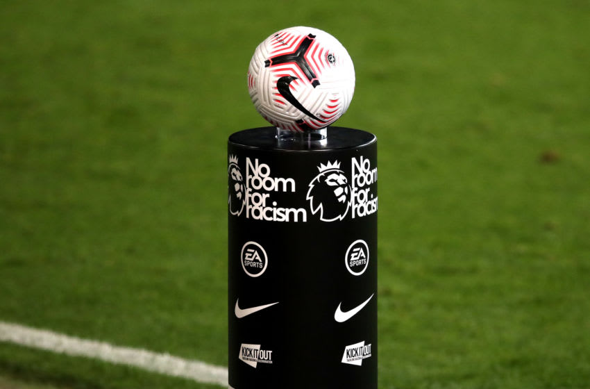 Nike Match ball on a 'No Room for Racism' Premier League (Photo by Alex Pantling/Getty Images)