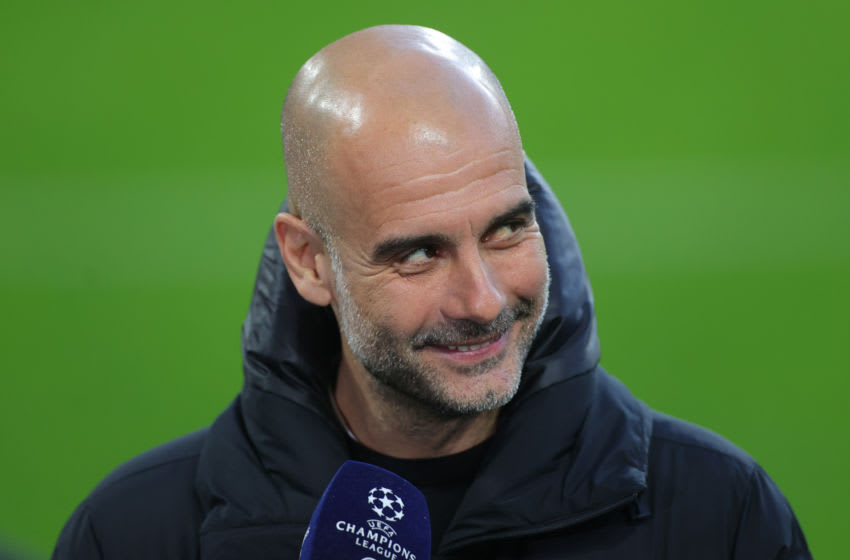 Pep Guardiola, Manager of Manchester City (Photo by Friedemann Vogel - Pool/Getty Images)